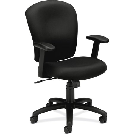 Blue Preschool Chair (basyx by HON VL220 Series Mid-Back Task Office Chair, Black )