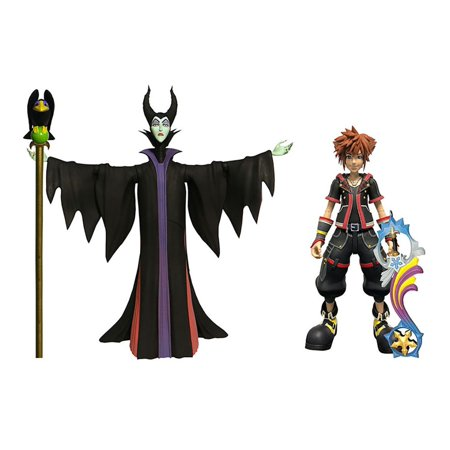 Disney Kingdom Hearts 3 Series 1 Sora & Maleficent with Diablo Action Figure 2-Pack