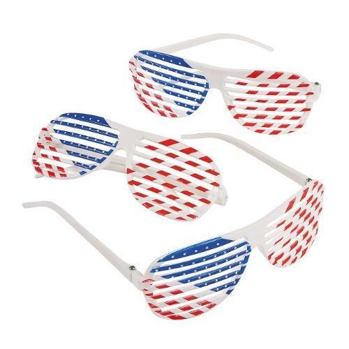 Patriotic Shutter Sunglasses 1 Dozen