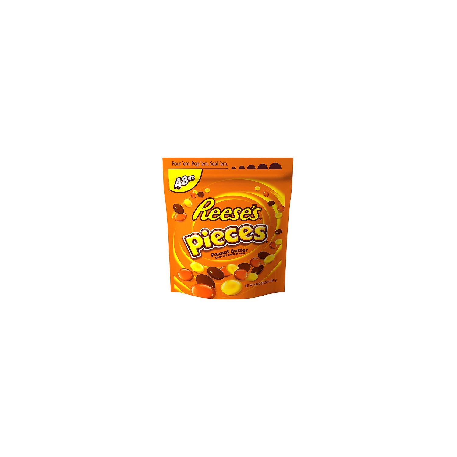 Reese's Pieces Peanut Butter Candy, 48 Oz