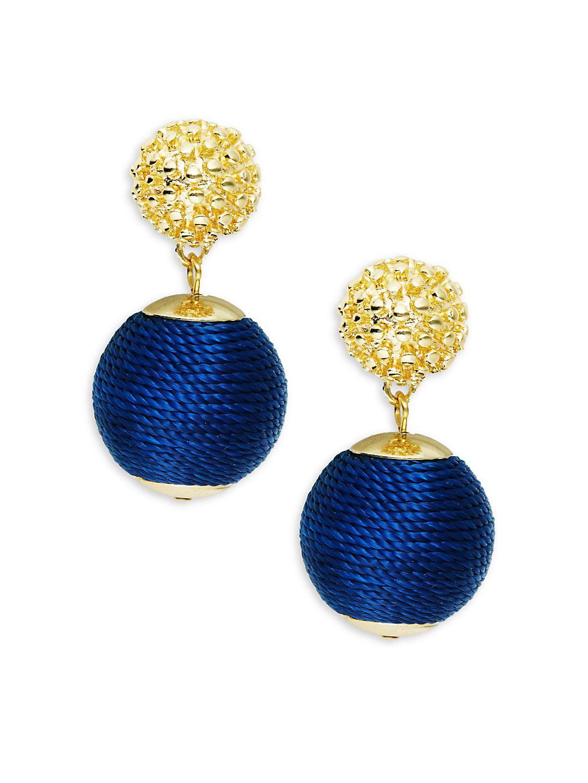 Wrapped Ball Drop Earrings