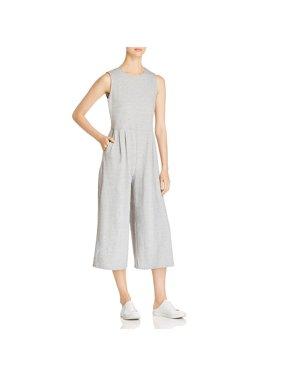 Eileen Fisher Womens Petites Organic Cotton Sleeveless Jumpsuit