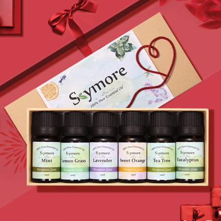 Skymore Top 6 Essential Oils Gift Set, 100% Pure & Natural Aromatherapy Oil for Valentine's Day Gift, Therapeutic Grade-Tea Tree, Lavender, Peppermint, Eucalyptus, Lemongrass, Oran - image 6 de 11