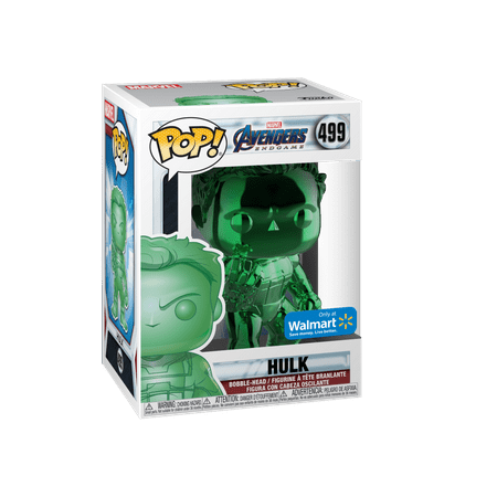 Funko POP! Marvel: Avengers Endgame - W2 - Hulk (Green Chrome) (Walmart Exclusive)