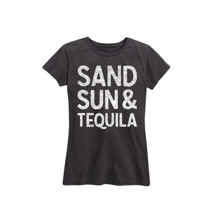 82b8ce60f Instant Message - Sand Sun And Tequila - Ladies Short Sleeve Classic Fit Tee  - Walmart.com