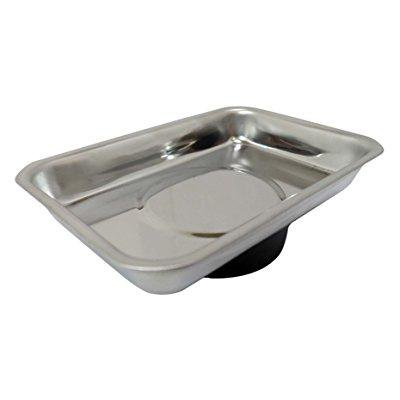TRUVUE Small Rectangular Stainless Steel Magnetic Tray: -