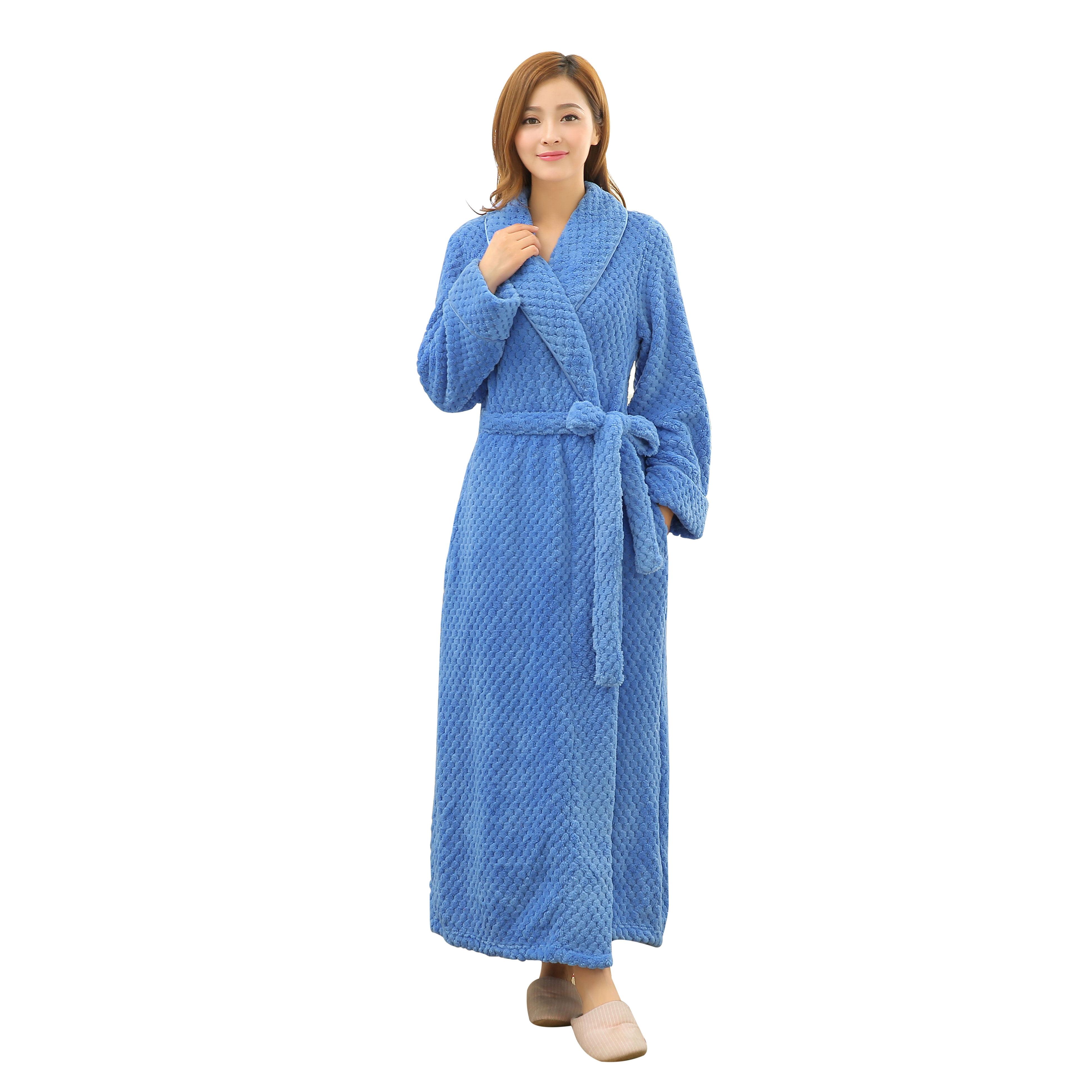 1x Women/'s Smooth Loose Fit Bathrobe Bird Pattern Long Robe Dress Gown Sleepwear