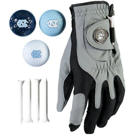 North Carolina Tar Heels Golf Balls, Tees & Glove Set - No Size