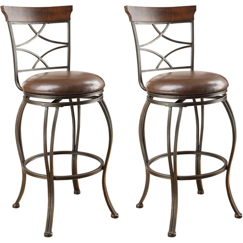 Acme Bolivia Swivel Bar Chair, Set of 2, Espresso