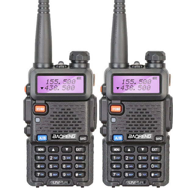 BAOFENG-128 Channels Built-in VOX Function UV-5R VHF/UHF Dual Band Radio 136-174/400-520MHz + Free Earpeice Desktop