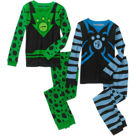 Boys' 4 Piece Cotton Pajama Sleepwear Set, Available in 13 Characters (Tmnt Outfits)