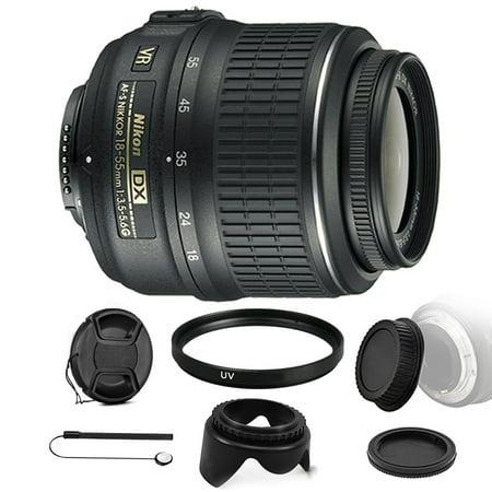 Nikon AF-P DX NIKKOR 18-55mm f/3.5-5.6G VR Lens for Nikon D500 D5500 D5300 D3300 D3400 D5600 w/