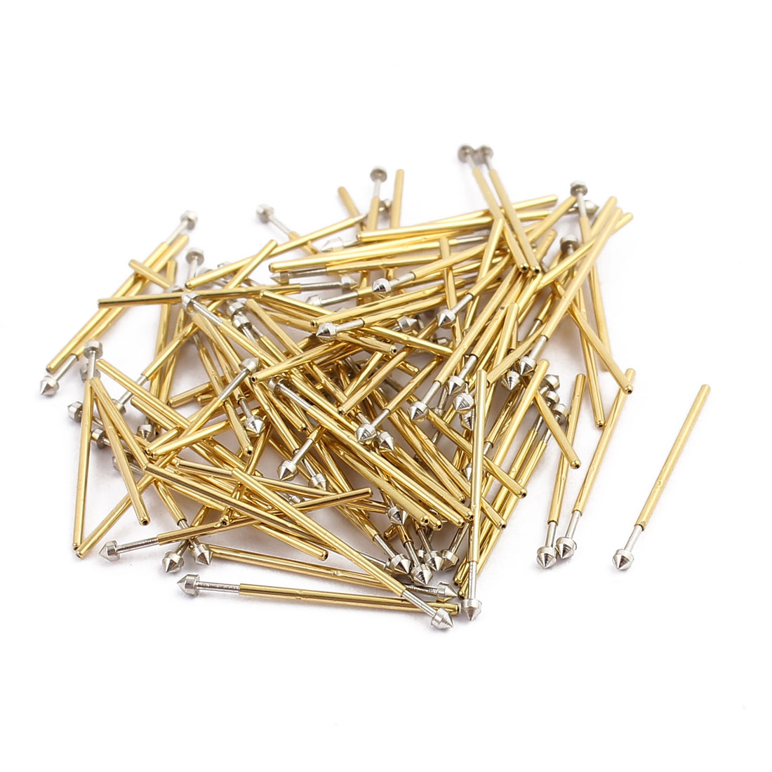 100pcs PP50-E3 0.68mm Dia 16.8mm Length Metal Spring Pressure Test Probe Needle