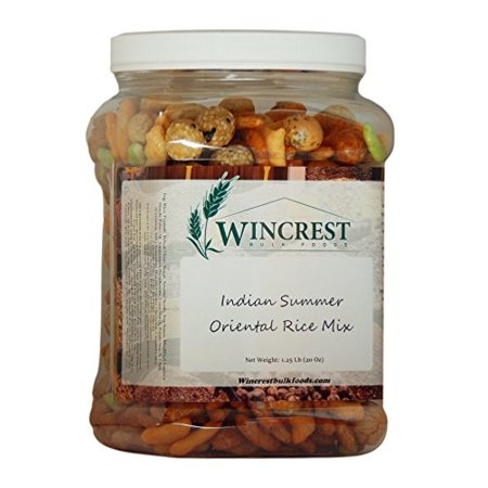 Indian Summer Oriental Rice Crackers - Snack Mix - 1.5 Lb Tub (Summer Mix)