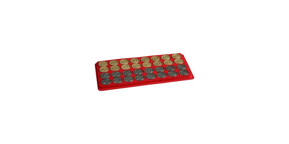 Metal Backgammon Checkers by Cambor