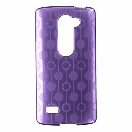 Circle Mobile (T-Mobile Flex Protective Gel Case for LG Leon - Purple Circle Pattern)