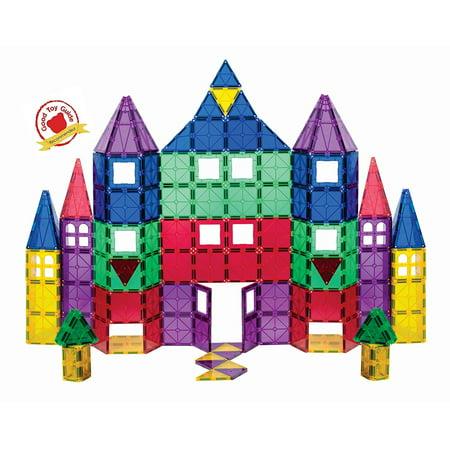 Fun PlaymagsTiles Magnetic Blocks 100-Piece Set 3D Magnetic Building Blocks, STEM Educational Magnetic Tiles Magna Magnet Toys for Kids, Toddlers