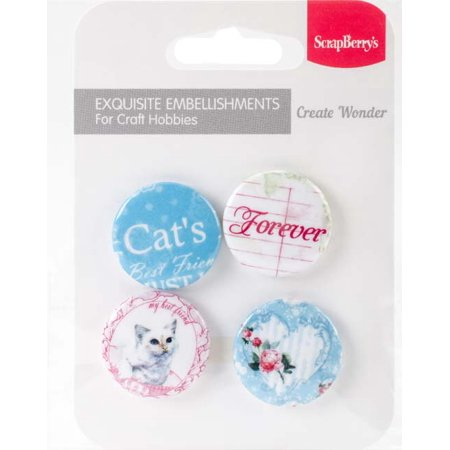 No. 2 Forever - ScrapBerry's Words Live Forever Embellishments (Embellishments Word Tiles)
