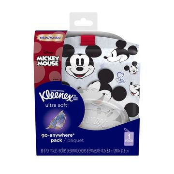 (3 pack) Kleenex Ultra Soft Go Anywhere Pack Facial Tissues, 30 Tissues per Pack