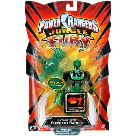 Power Rangers Jungle Fury Savage Spin Elephant Ranger Action Figure - Power Ranger Jungle Fury