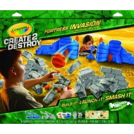Crayola Create 2 Destroy Fortress Invasion Play Set, Ultimate Destruction