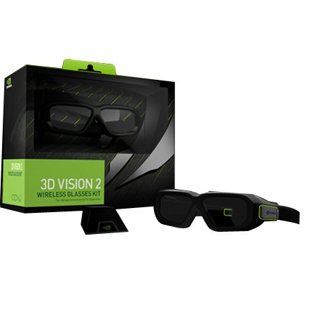 NVIDIA 3D Vision 2 Wireless Glasses Kit – For Monitor, Notebook, All-in-One PC, Projector, Television – Shutter – 15 ft – Infrared – Battery Rechargeable