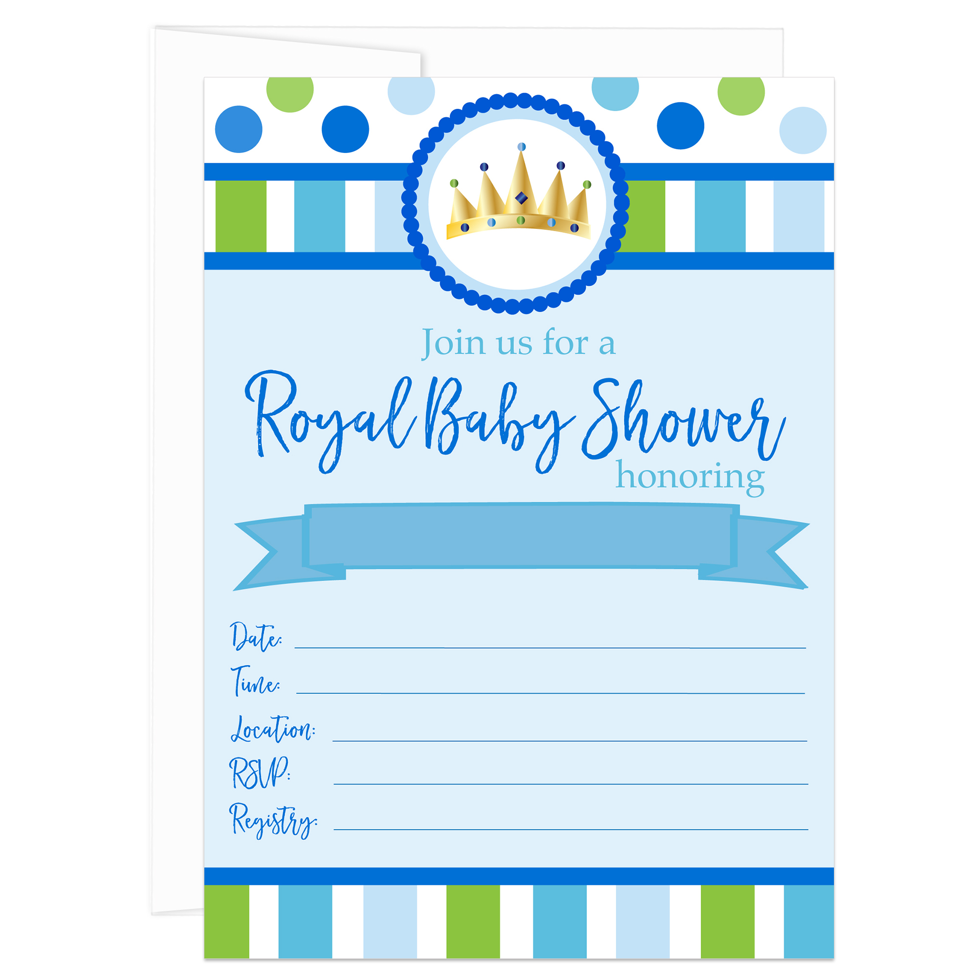 Royal Prince Baby Shower Fill In Invitations Pack Of 10 Walmart Com