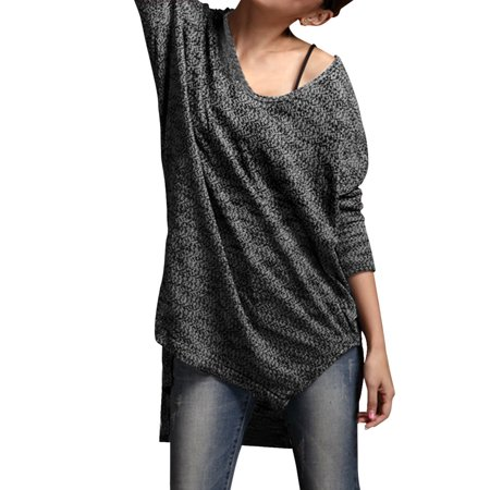 Ladies V Neck Long Sleeves Pullover Autumn Tunic Shirt