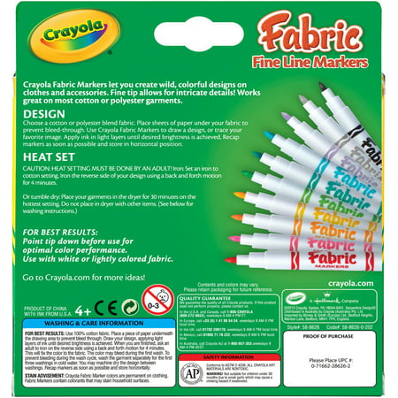 Crayola Fine Line Fabric Markers-10/Pkg - image 1 of 1