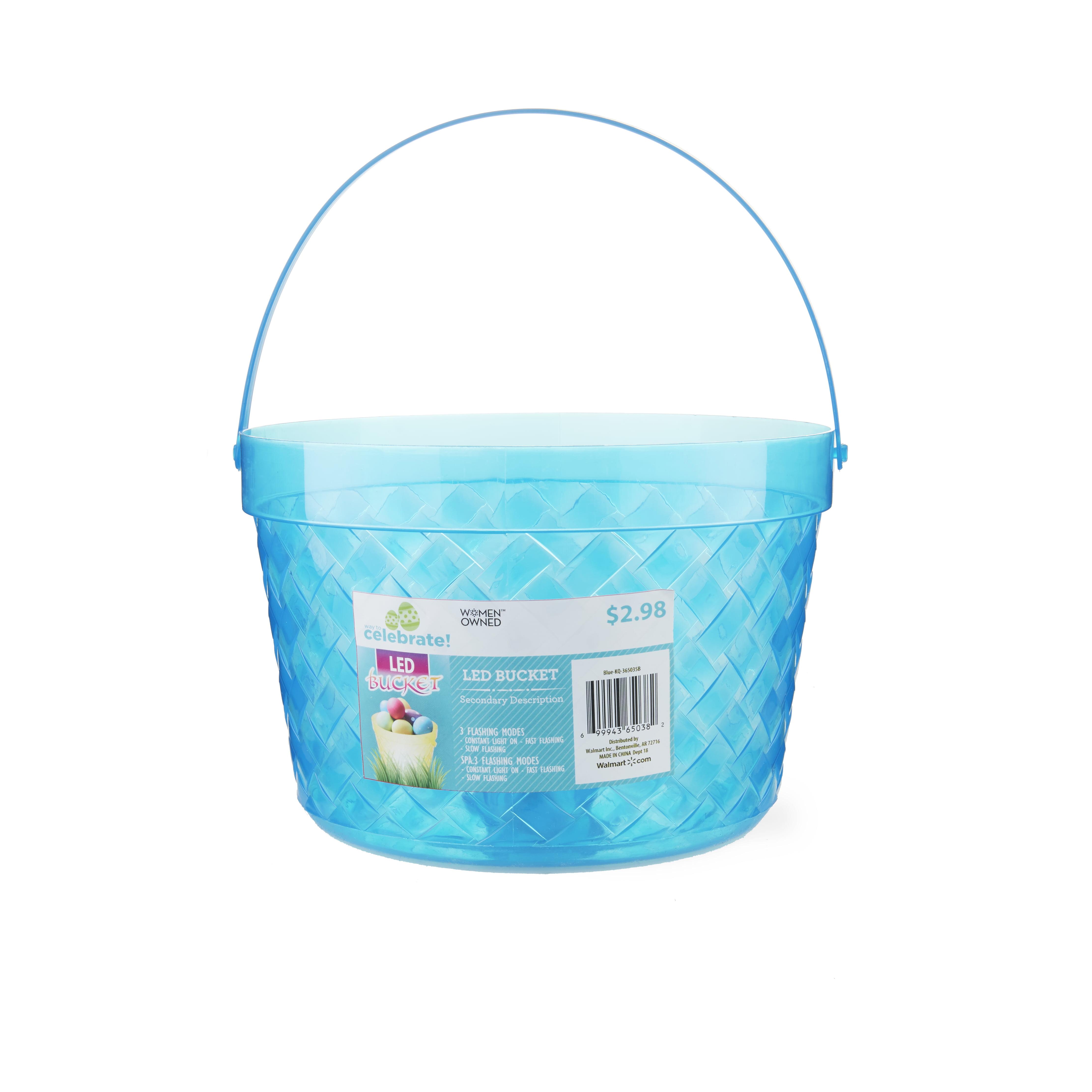 Way To Celebrate LED Easter Bucket, Blue