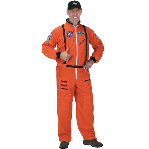Orange Astronaut Suit Adult Halloween Costume, Size: Men's - One Size