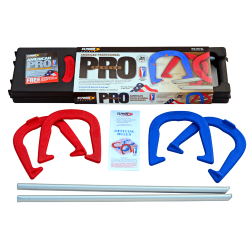 St. Pierre American Professional Series Horseshoes Complete Set: Includes 4 Horseshoes, Solid Steel Stakes,... by St. Pierre
