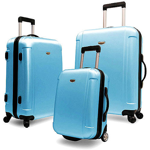 Traveler's Choice Freedom 3-Piece Hardsided Luggage Set, Multiple Colors