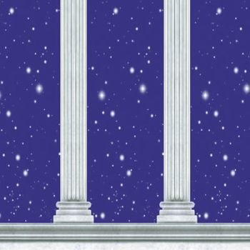Column Backdrop Party Accessory (1 count) - Party Accessories