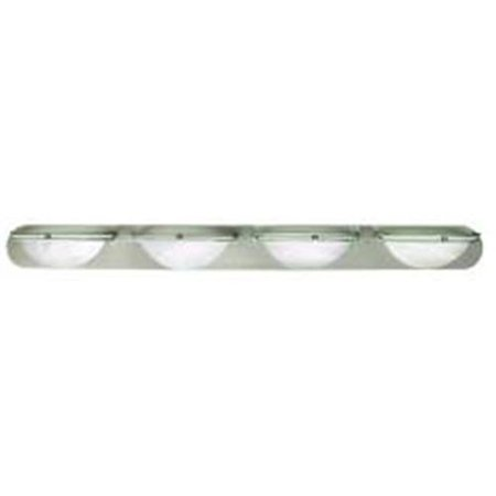 617609 48 inch vanity fixture 4 light in brushed nickel