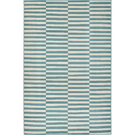 Unique Loom Striped Williamsburg Rug 9' Green Solarvista Set