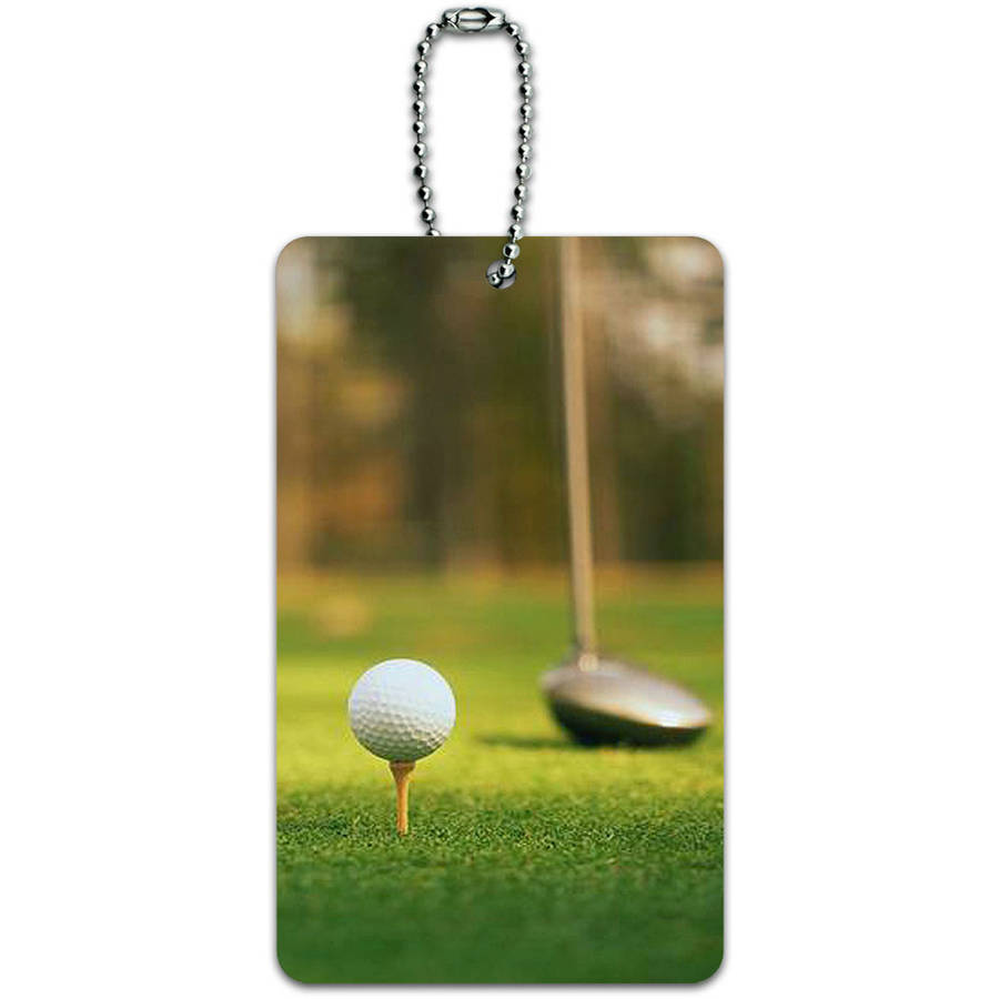 Golf Ball Club Golfing ID Tag Luggage Card for Suitcase or Carry-On