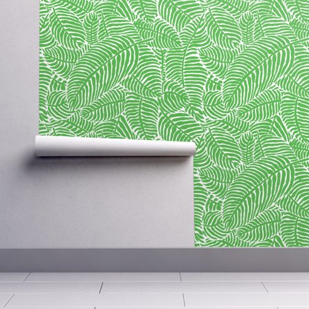 Peel-and-Stick Removable Wallpaper Palm Fronds Palm Fronds Tropical Summer