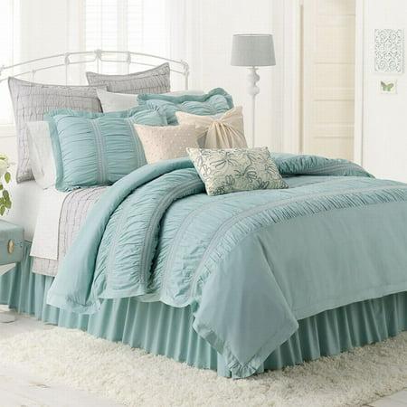 LC Lauren Conrad Lily Reversible Comforter Set Pretty Blue ...
