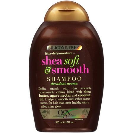 Alcohol Free Shampoo - OGX Shea Soft & Smooth Shampoo, 13.0 FL OZ