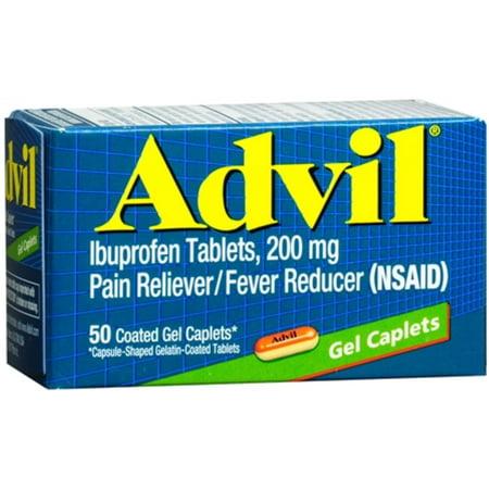 Advil Gel caplets 50 caplets (Paquet de 4)