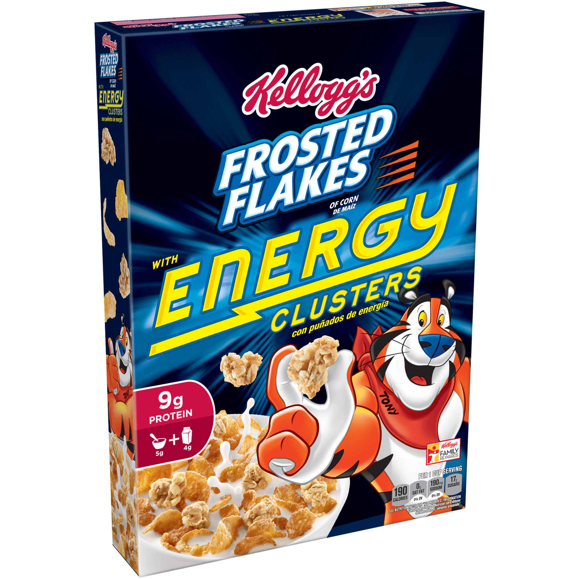 Kellogg's Frosted Flakes with Energy Clusters Cereal, 12.1 oz