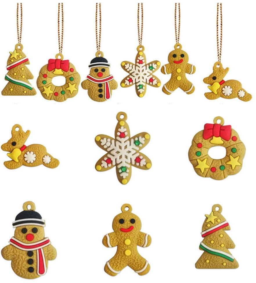 Gingerbread Christmas Ornaments Gingerbread Man Hanging Christmas Tree Ornaments For Holiday Kitchen Decor Christmas Tree Hanging Decorations Holiday Party Decor B Walmart Canada