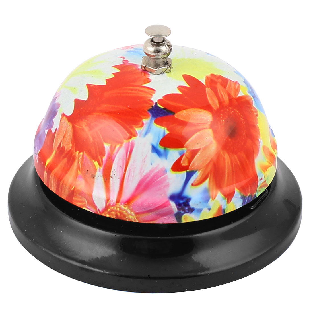 Flower Pattern Hotel Lobby Counter Desk Service Call Bell Multicolor by Unique-Bargains