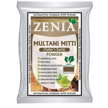 Natural English Clay (100 grams Multani Mitti Powder - Fullers Earth Clay Natural Facial Mask, A Natural way to clean Skin and body By Zenia )