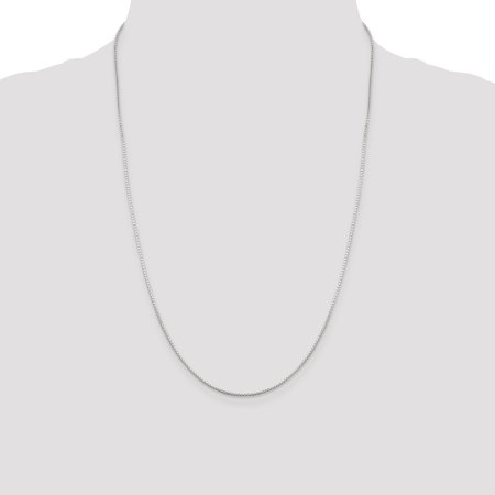 925 Sterling Silver 1mm Mirror Box Chain 30 Inch - image 2 of 5