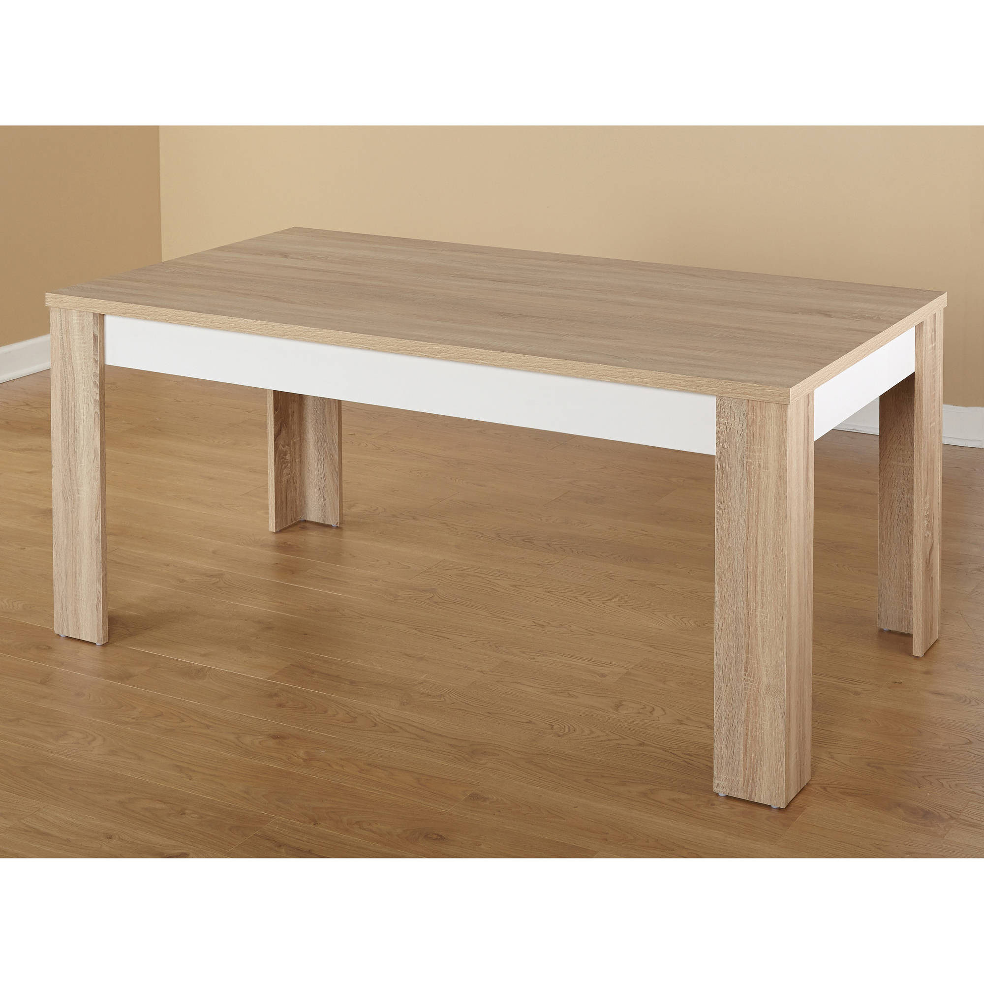 Mandy Dining Table, Natural/White