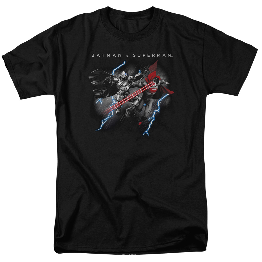 BATMAN V SUPERMAN/LIGHTNING FIGHT-S/S ADULT 18/1-BLACK-LG