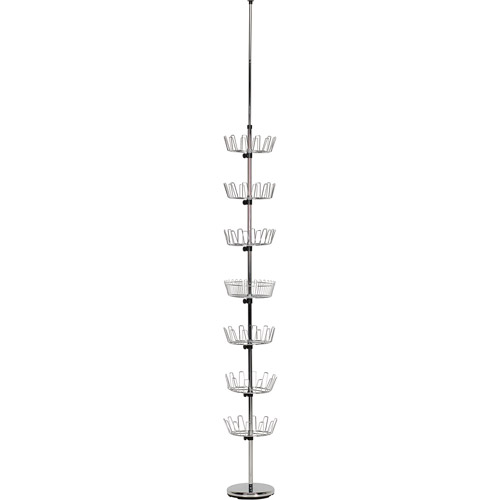 Household Essentials Floor to Ceiling Revolving Shoe Tree, Chrome by Generic