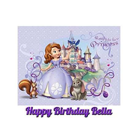 Sofia The First Cake Ideas (Sofia The First Princess Edible Image Photo Cake Topper Sheet Personalized Custom Customized Birthday Party - 1/4 Sheet -)